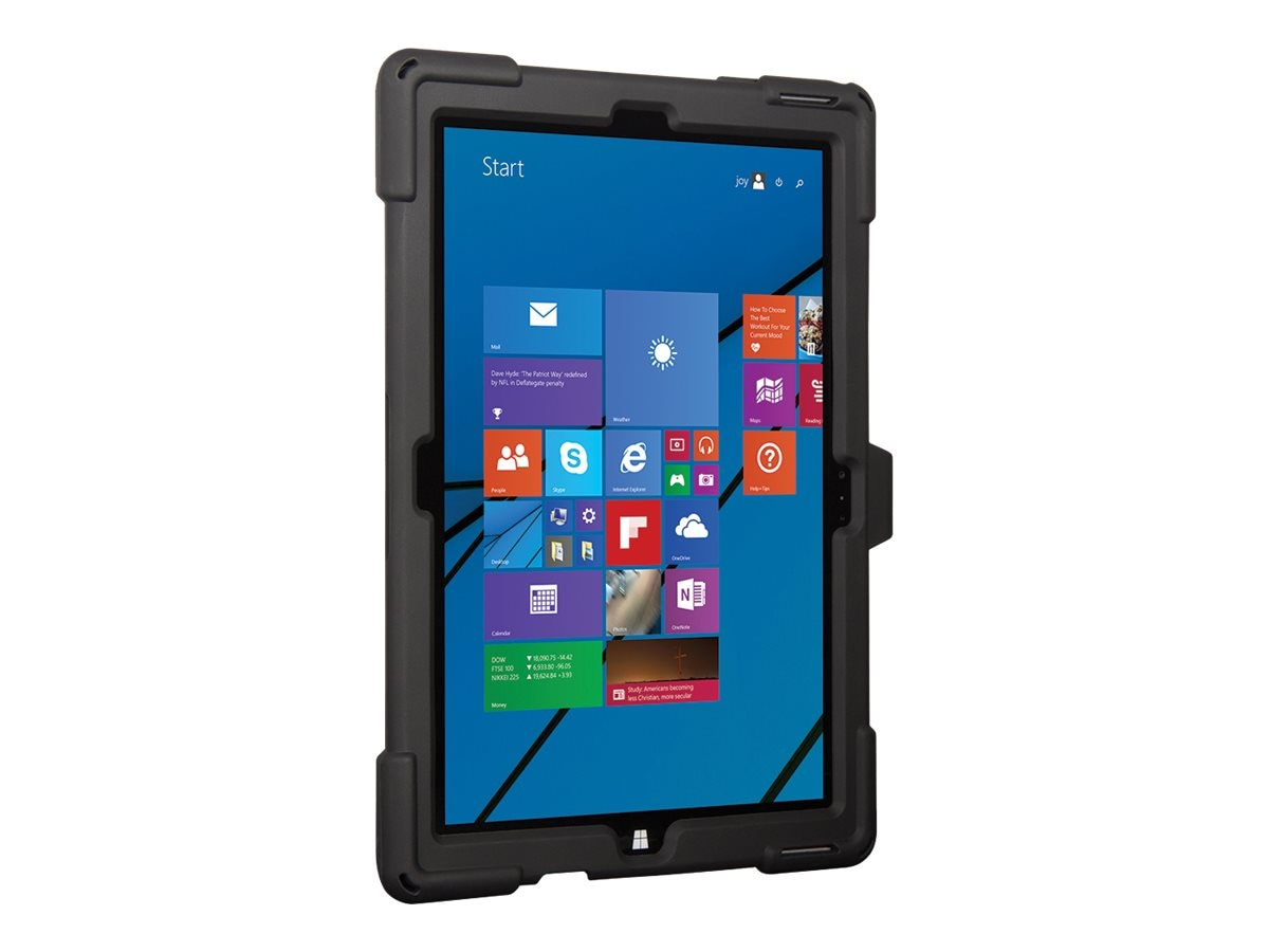 Joy Factory Axtion Edge M Rugged Slim Silicon Case Magconnect Mount Compatible for Surface Pro 3, CWM100, 26413444, Carrying Cases - Notebook