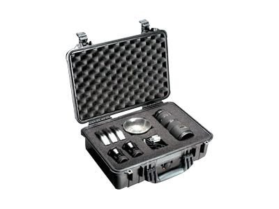 Pelican 1500 Hard Case with Foam, Silver
