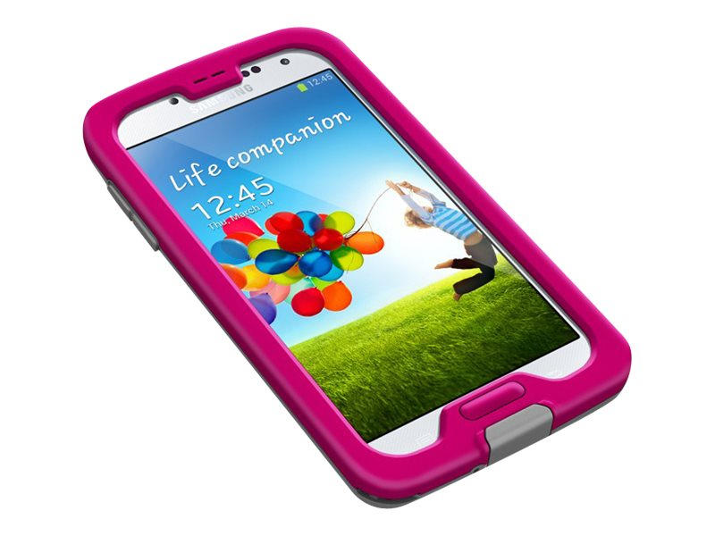 Lifeproof Nuud Case for Samsung Galaxy S4, Magenta Black Clear, 1801-03, 18925714, Carrying Cases - Phones/PDAs