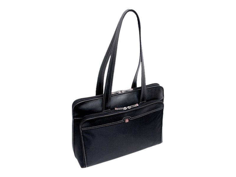 Wenger Rhea Laptop Tote Bag, Black with Fashion Interior, 15.4, WA-7733-02F00, 10554411, Carrying Cases - Notebook