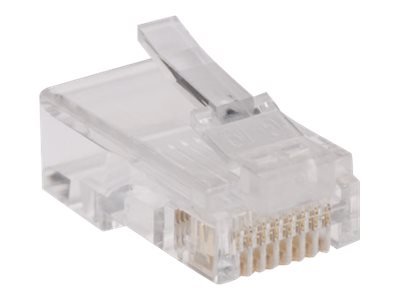 Tripp Lite RJ-45 Plugs for Flat Solid Stranded Conductor Cable, 100-Pack