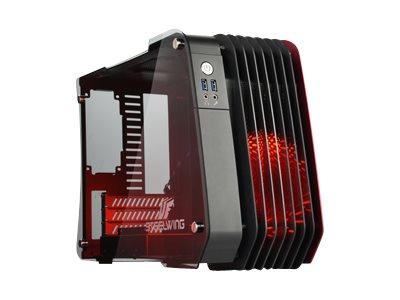 Enermax Chassis, Steelwing Micro ATX 1x3.5 Bay 1x2.5 Bay 3xSlots, Red, ECB2010R