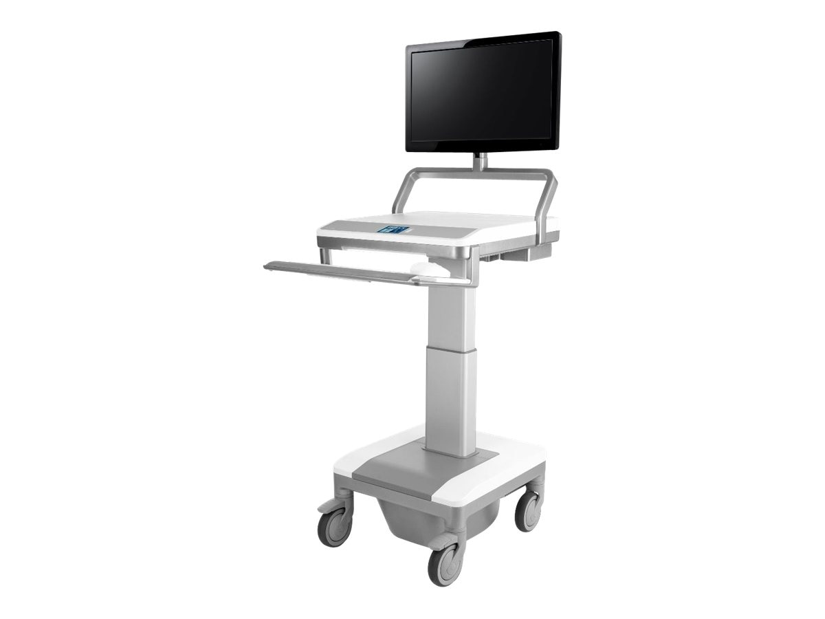 Humanscale T7 PC Cart with Auto-fit, PC Gantry with UFEA and PC WorkSurface, T74NNLP3P, 15610291, Computer Carts - Medical