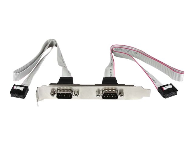 StarTech.com 2-Port DB9 Serial Port, Bracket Header, PLATE9M2P16, 14282168, Adapters & Port Converters