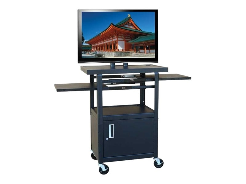 Buhl AV Wide Body Flat Panel TV Cart with Locking Cabinet, PLCAB4226E, 8651107, Computer Carts