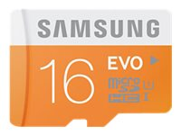 Samsung 16GB MicroSDHC with USB Adapter, Class 10, MB-MP16DB/AM, 18791007, Memory - Flash