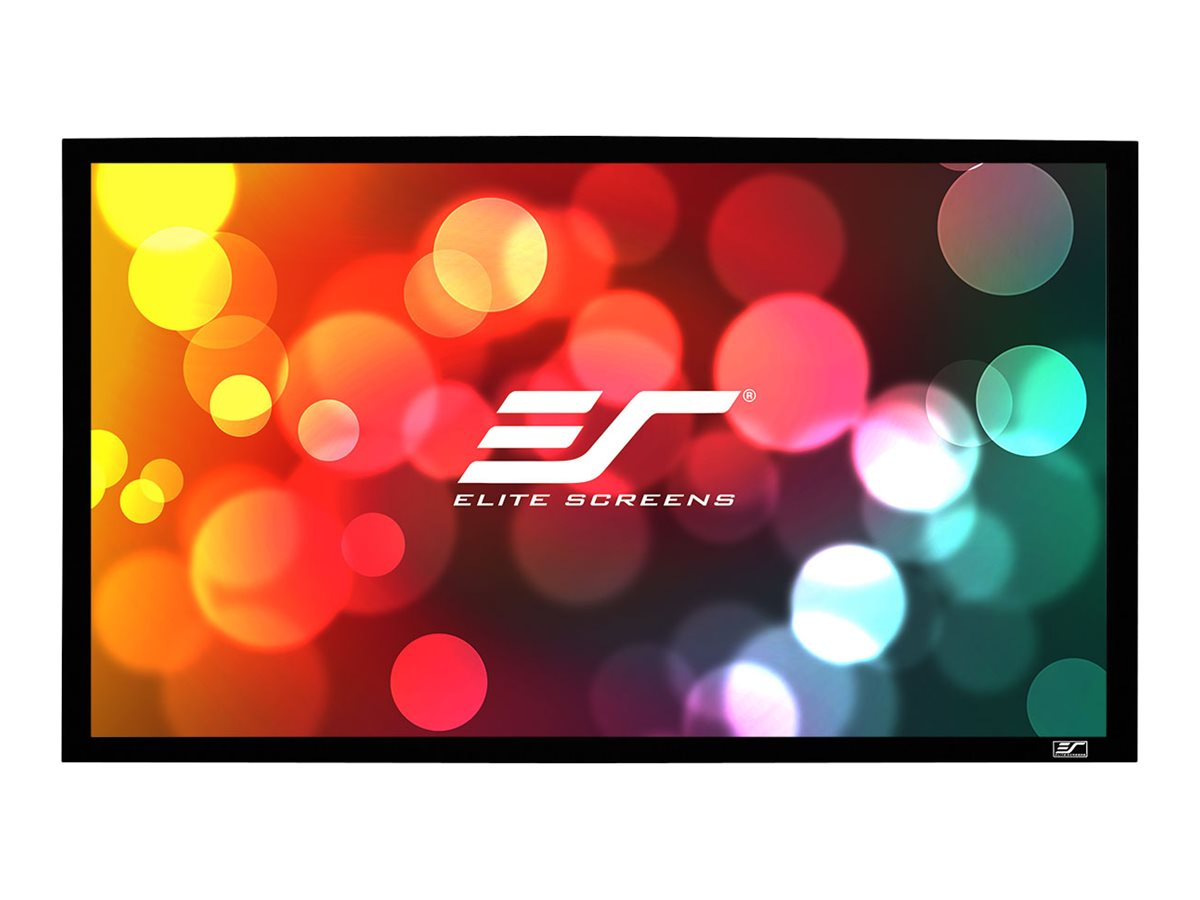Elite Fixed SableFrame Home Projection Screen, CineWhite, 16:9, 106, ER106WH1, 11204228, Projector Screens