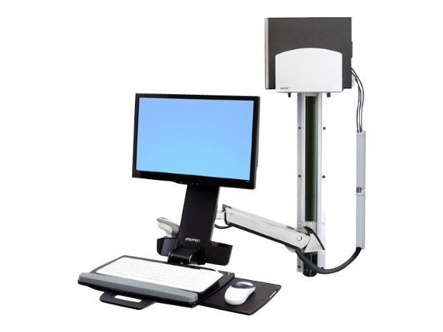 Ergotron StyleView Sit-Stand Combo System with CPU Mount, 45-271-026