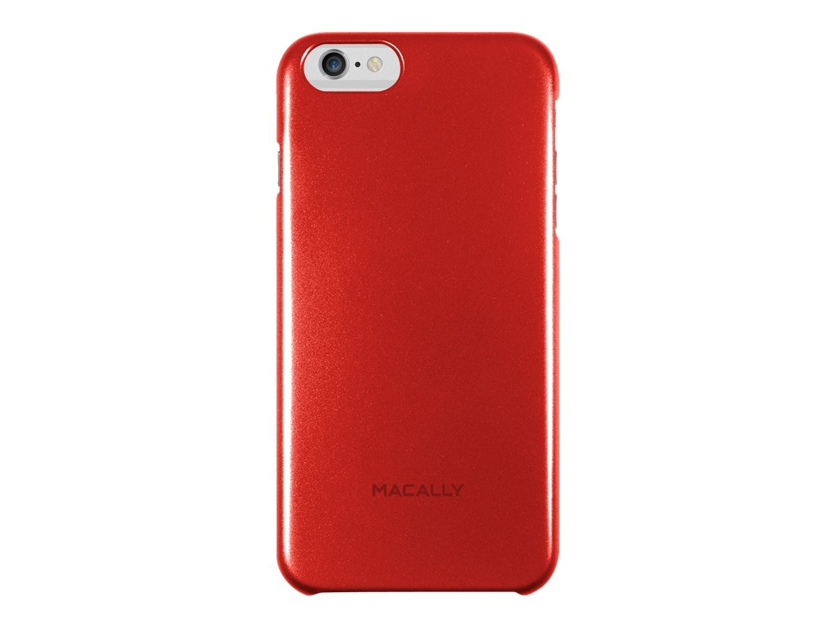 Macally Metallic Snap-On Case for iPhone 6, Red, SnapP6LR, 17923653, Carrying Cases - Phones/PDAs