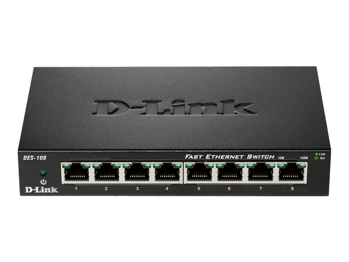 D-Link 8-Port 10 100 Unmanaged Switch with Metal Chassis