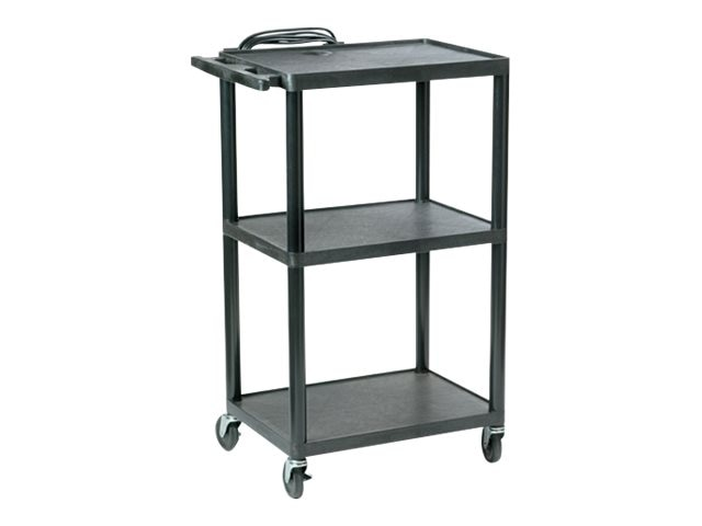 Buhl AV Plastic Adjustable AV Cart, 16-42, PC1642E, 8701397, Computer Carts