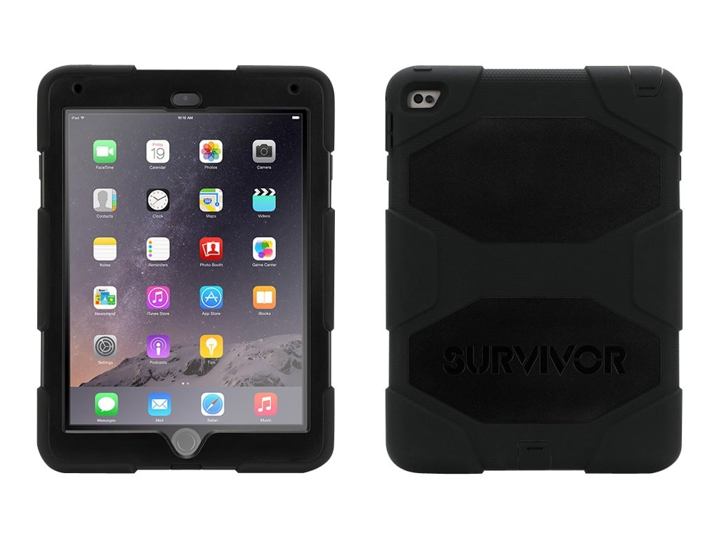 Griffin Survivor All-Terrain for iPad Air 2, Black Black, GB40336, 17700898, Carrying Cases - Tablets & eReaders