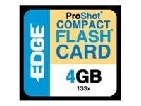 Edge 4GB High Capacity CompactFlash Memory Card, 133X, PE222017, 10168528, Memory - Flash