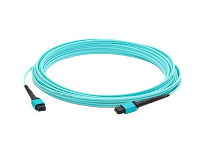 ACP-EP OM3 Fiber Patch Cable, MPO-MPO, 12-Fiber, 50 125, Multimode, Aqua, 10m, ADD-MPOMPO-10M5OM3S