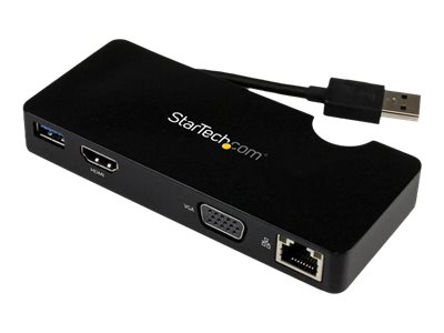 StarTech.com Universal USB 3.0 Laptop Mini Docking Station, Instant Rebate - Save $7, USB3SMDOCKHV