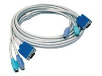 TRENDnet PS 2 KVM Cable, Gray, 15ft, TK-C15, 8552521, Cables