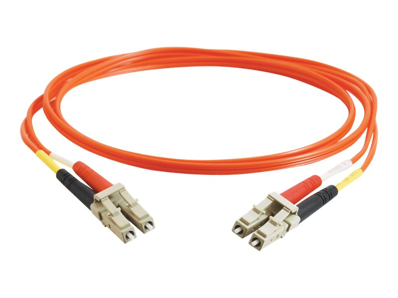C2G LC-LC 62.5 125 Multimode Duplex Fiber Patch Cable, Orange, 7m