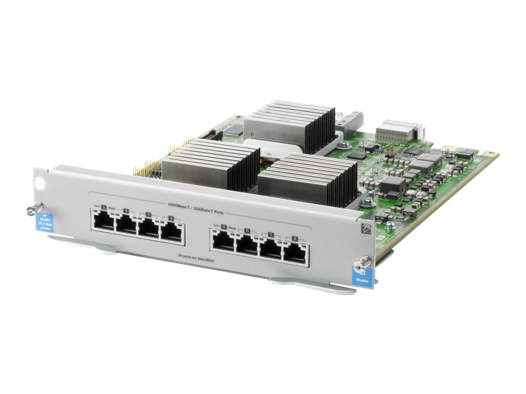 HPE 8-port 10GBase-T v2 zl Module, J9546A, 12850601, Network Device Modules & Accessories