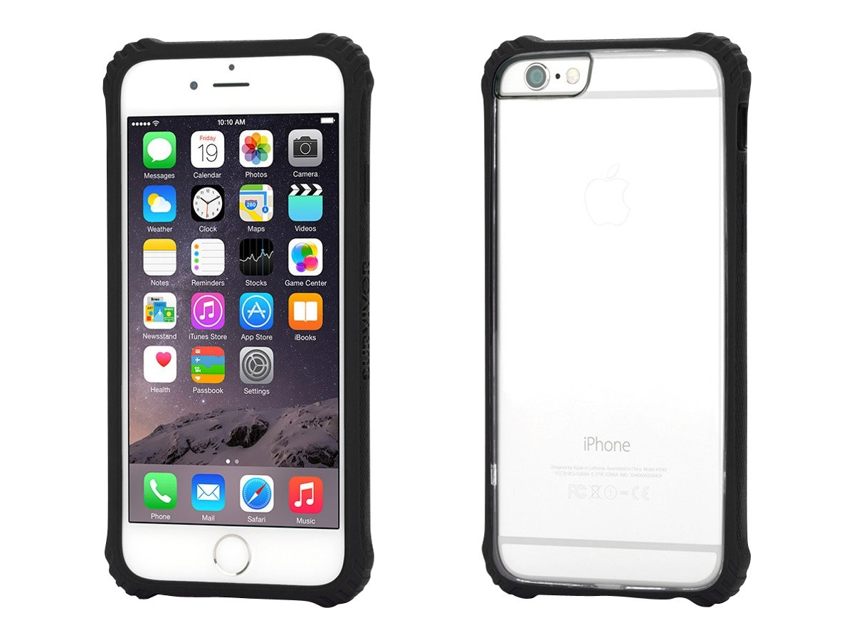 Griffin Survivor Core for iPhone 6 4.7, Black, GB38865, 17700695, Carrying Cases - Phones/PDAs