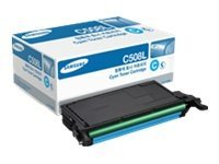 Samsung Cyan High Yield Toner Cartridge for the CLP-620ND, CLP-670ND & CLP-670N Color Laser Printers, CLT-C508L, 10826800, Toner and Imaging Components
