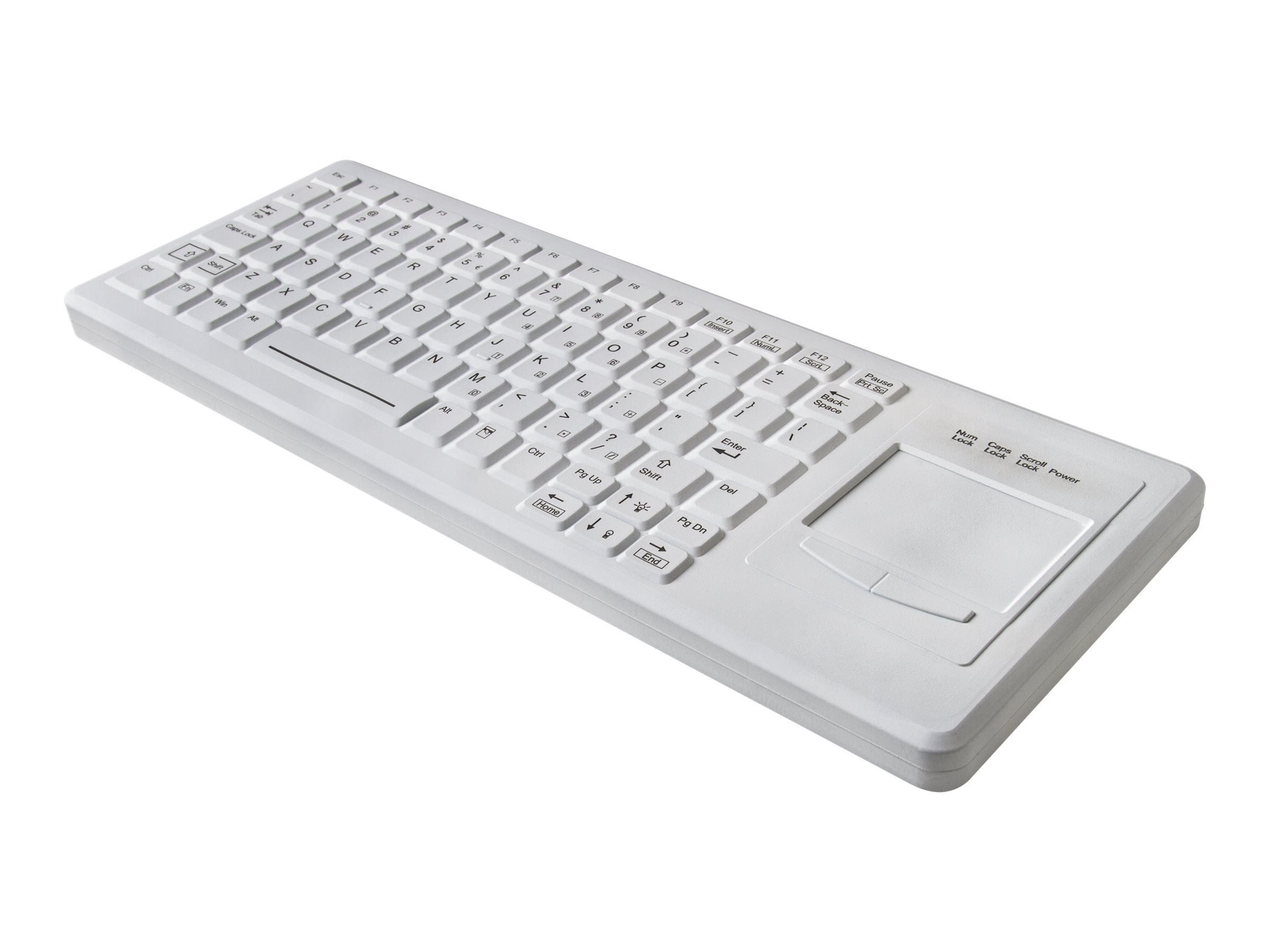 TG3 CK82S Medical Keyboard Right Touchpad 82 Keys Sealed IP68, USB, Black, White Backlighting, KBA-CK82S-BRUW-US