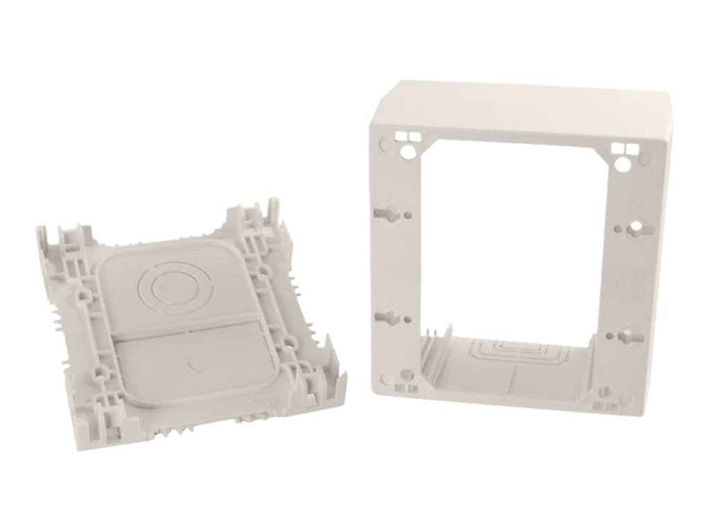 C2G Wiremold Uniduct Double Gang Extra Deep Junction Box, Fog White