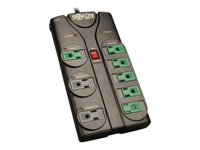 Tripp Lite Eco-Surge Energy-Saving Surge Suppressor (8) Outlets, 6ft cord, 1080 Joules, AV86G, 14266491, Surge Suppressors
