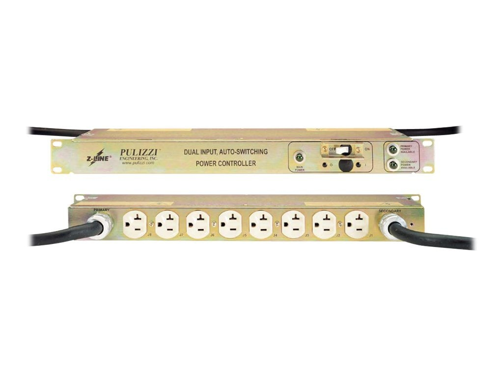 Eaton EPDU 1U EATS Filter Dual 5-15P Input 8 5-15R Outlets, TPC2234-A-F, 9497295, Power Distribution Units