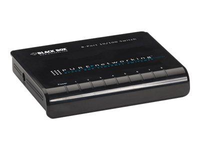 Black Box Pure Networking 10 100 Ethernet Switch, 8-Port, LB008A, 14729193, Network Switches