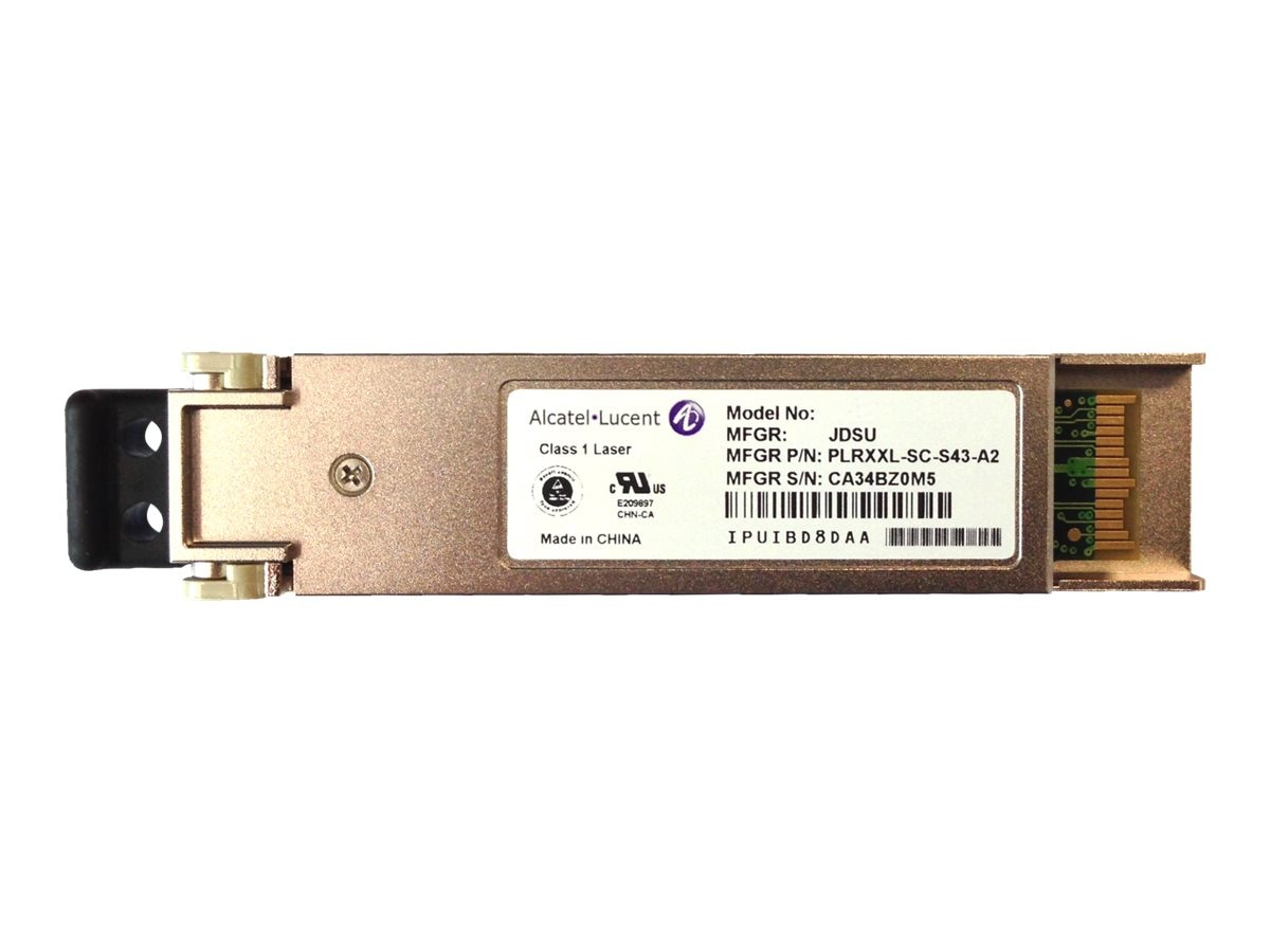 HPE Alcatel-Lucent 7x50 1-port 10GBASE-SR SFP+ Multimode 300m LC Connector Transceiver, JL156A