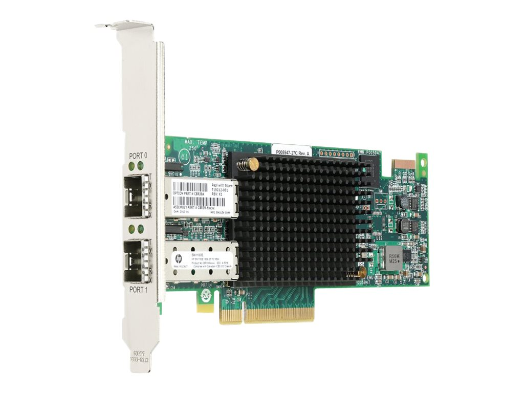 HPE StoreFabric SN1100E 16Gb Dual Port Fibre Channel Host Bus Adapter, C8R39A, 16444896, Host Bus Adapters (HBAs)