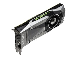 PNY GeForce GTX 1080 PCIe 3.0 x16 Founders Edition Graphics Card, 8GB GDDR5X, VCGGTX10808PB-CG, 32044569, Graphics/Video Accelerators