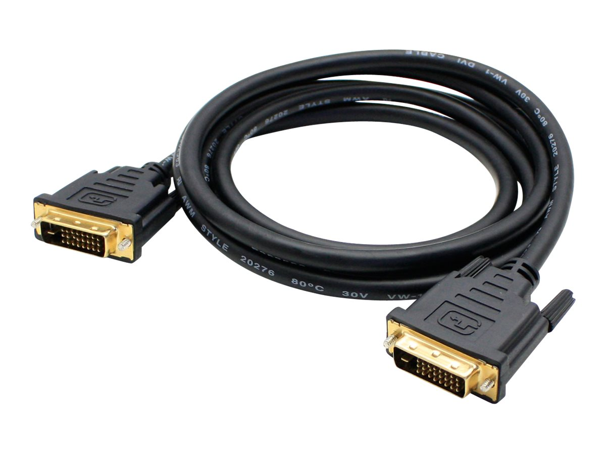 Add On DVI M M Cable, Black, 10ft, 5-Pack