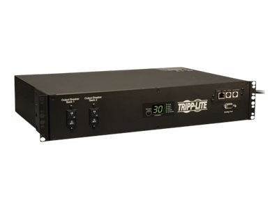Tripp Lite PDU Switched ATS 208V 240V 30A (16) C13 (2) C19 (1) L6-30R 2U RM, PDUMH30HVATNET, 13067239, Power Distribution Units