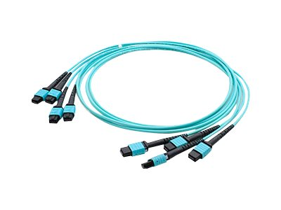 ACP-EP Fiber MMF Trunk 48 4MPO x 4MPO Female Type A OM3 Cable, 3m