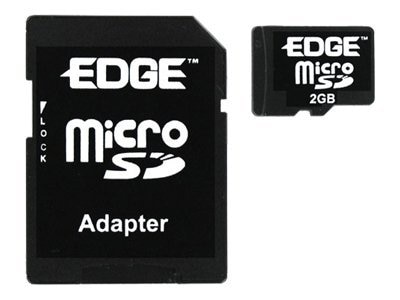 Edge 2GB Micro SD Card with Adapter, PE214487, 8162881, Memory - Flash