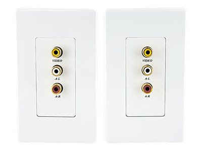 StarTech.com Composite Wall Plate Video Extender over Cat5 with Stereo Audio, COMPUTPWALLA, 10088579, Premise Wiring Equipment