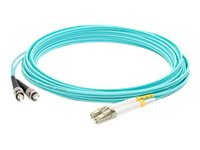 ACP-EP ST-LC OM4 LOMM Duplex Patch Cable, Aqua, 20m, ADD-ST-LC-20M5OM4