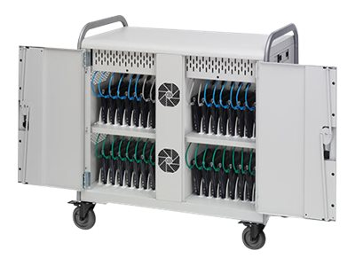 Bretford Manufacturing 32-Unit Link L Charging Cart with Rear Doors, 90º outlets