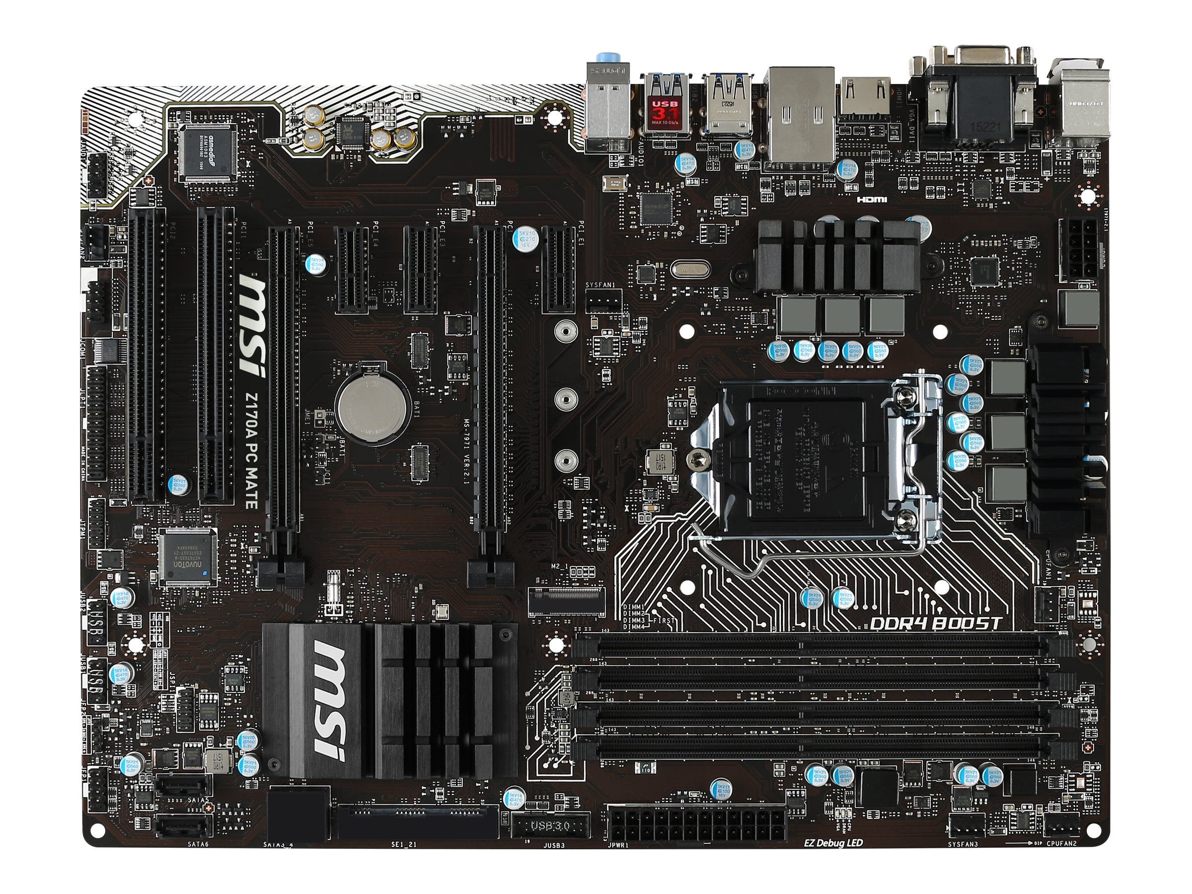 Microstar Motherboard, Z170A PC Mate, Z170A PC Mate