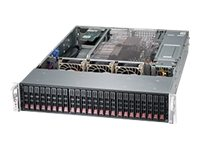 Supermicro SuperChassis 216BE26 2U RM (2x)Intel AMD 24x2.5 HS Bays 7xExpansion Slots 1280W RPS