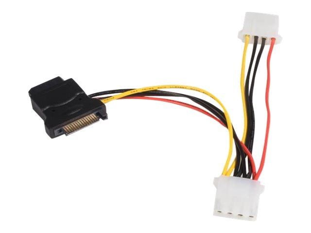 StarTech.com SATA to LP4 15-pin Power Adapter Cable with (2) LP4, 6