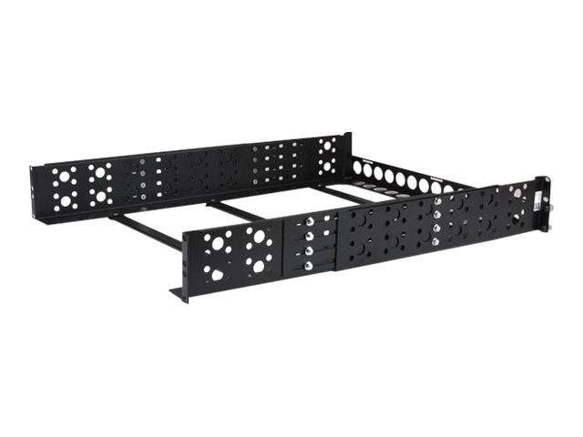 StarTech.com Fixed 19 Adjustable Depth Universal Server Rack Rails, 2U