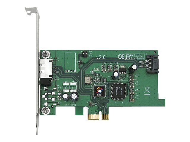 Siig 2-Port (1 Internal, 1 External) SATA II (eSATA) PCI Express x1 Card - RoHS Compliant