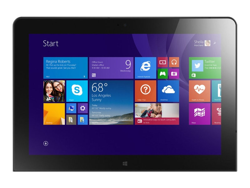 Lenovo TopSeller ThinkPad 10 1.6GHz processor Windows 8.1 Pro, 20C10032US, 17697588, Tablets