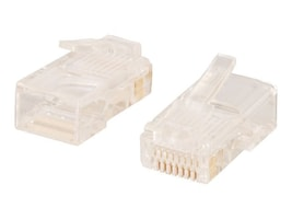 C2G Cat5 8x8 RJ-45 Modular Plug for Round Stranded Cable, 100-Pack, 11381, 12558941, Cable Accessories
