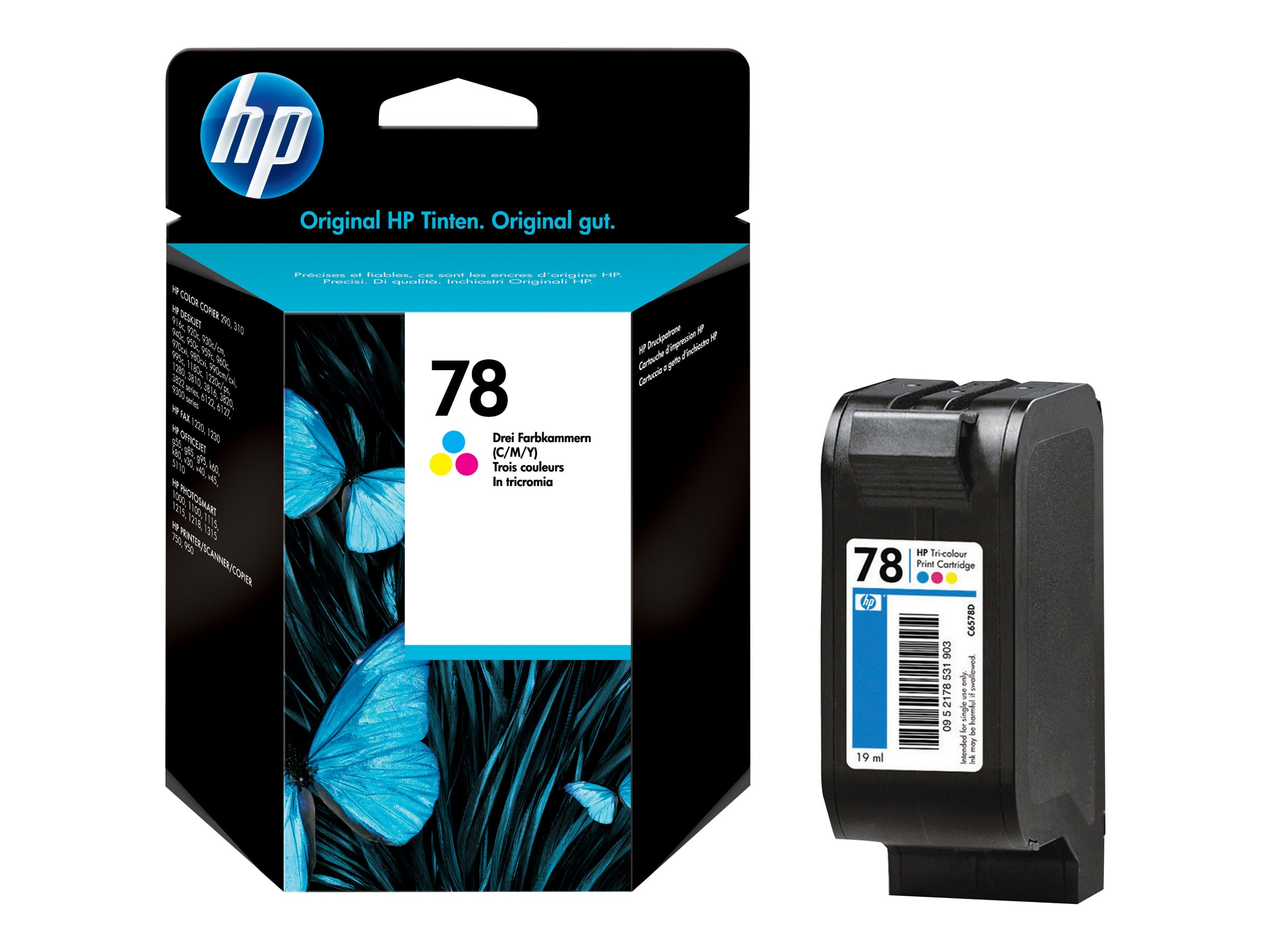HP 78 (C6578DN) Tri-color Original Ink Cartridge, C6578DN#140