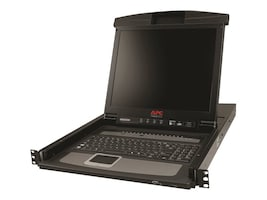 APC 17 Rack LCD Console with Integrated 16-Port Analog KVM Switch, AP5816, 11515270, KVM Displays & Accessories