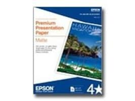 Epson 8.5 x 11 Premium Presetation Paper Matte (50 Sheets), S041257, 157463, Paper, Labels & Other Print Media