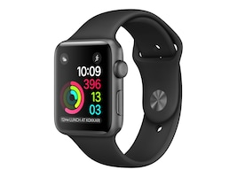 Apple Watch Series 2, 42mm, Space Gray Aluminum Case with Black Sport Band, MP062LL/A, 32667715, Wearable Technology - Apple